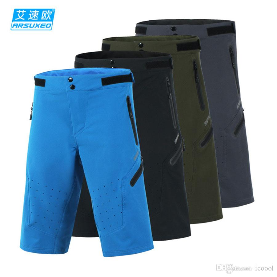 Wholesale ARSUXEO Men's Summer Cycling Shorts Off-road Downhill DH BMX MTB Mountain Bike Bicycle Shorts Outdoor Sports Short Pants