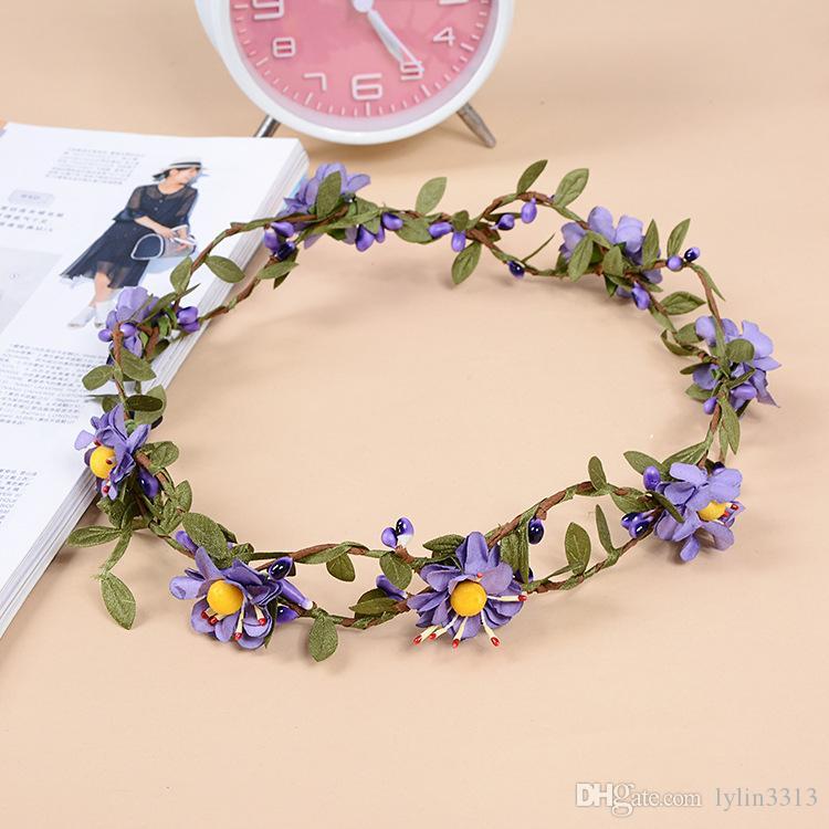 New Arrival Korean Bridal Headpiece Crown Garland Bride Hair Flower Fashion Girl Hair Accessories 10pcs Wholesale