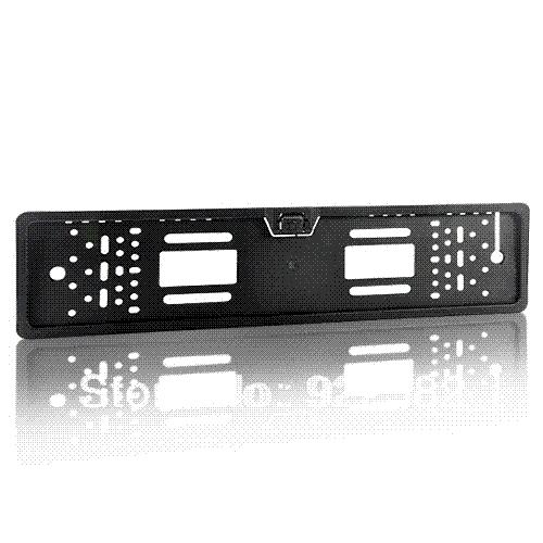 Quadro da placa de licença europeia câmera HD, câmera de visão traseira, kit inverter backup do carro, câmera do carro em MONITOR DVD VCR / + feedback feliz