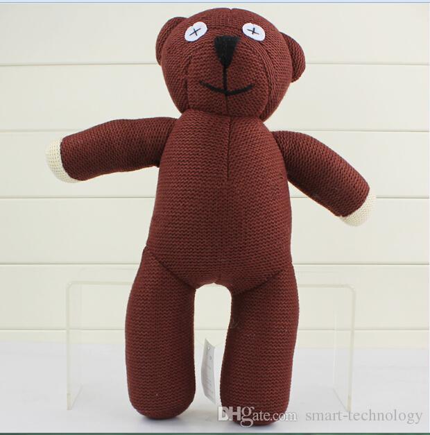 Mr Bean Teddy Bear Animal Stuffed Plush Toy,22cm Brown Figure Doll Free Shipping