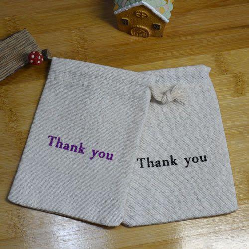 감사합니다 황마 선물 가방 9x12 센치 메터 10x15 센치 메터 팩 100 아기 쇼 생일 파티 결혼식 호의 홀더 자루 메이크업 보석 졸라 파우치