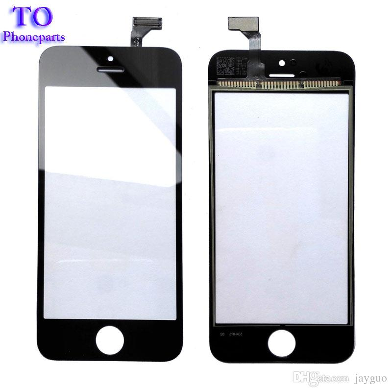 """50PCS High Quality 4.0"""" For iPhone 5 5G 5S 5C Touch Screen Digitizer Sensor Front Glass Lens Panel Black White"""