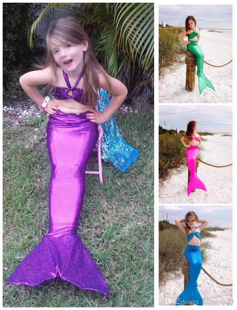 2018 Children Costumes Mermaid Tail Swimwear 3 14 Year Kids Swimwear Mermaid  Swimmable Swimsuit Swimming Princess Bikini Set 90 140cm From B2bstore24 . ef0eb59f9cbe