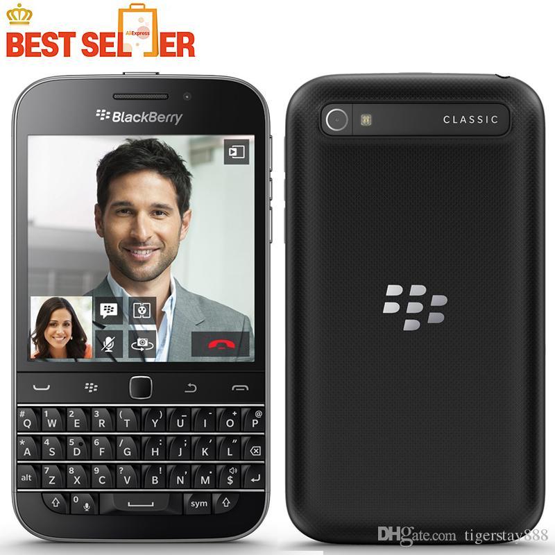 Original Classic Blackberry Q20 Telefone Celular 4G LTE Blackberry 2GB RAM 16GB ROM Dual Núcleo 8MP Celular Telefones 3.5inch NFC HDMI DLNA WLAN