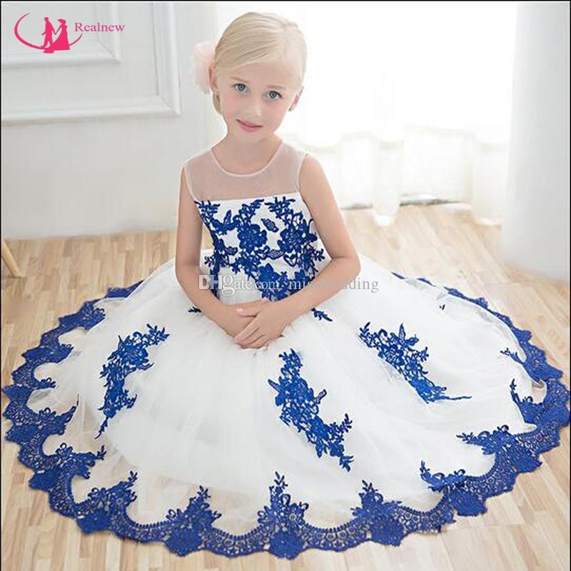 Ultimo disegno adorabile senza maniche Appliques Flower Dress Little Girl Ball Gown Organza Designer professionale prezzo competitivo