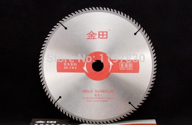Freies verschiffen von dekoration holzbearbeitung zweck 300 * 3,0 / 2,2 * 100Z TCT sägeblatt für hartholz dünne aluminium profil schneiden