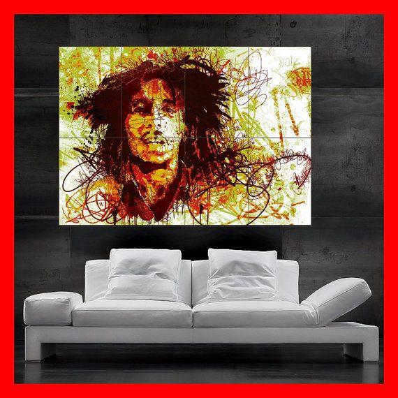 Bob Marley Music Giant Wall Art Poster Print