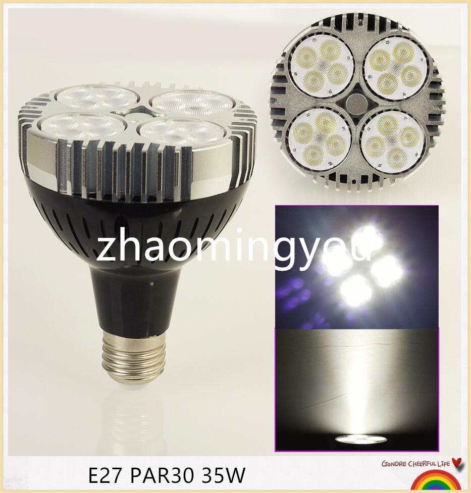 10pcs Cree Chips PAR30 35W E27 LED Spotlight Lampe Lampe Cool Blanc / Chaud Blanc Haute Luminosité Livraison Gratuite