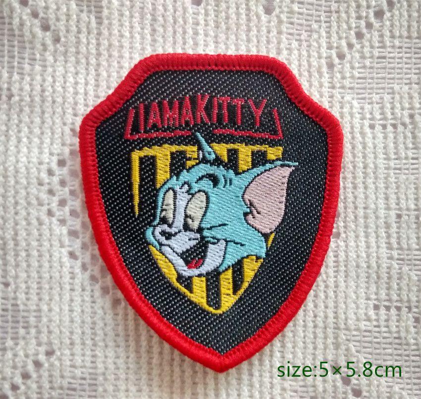 Tom Kedi-Ben bir kitty-Peltate Başarmak On Patch Gömlek Pantolon Yelek Ceket Etek Çanta Çocuklar Hediye Bebek Dekorasyon