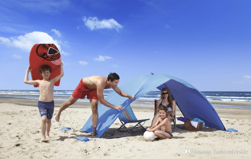 new concept 9662d ebbe5 Summer Beach Tent Sun Proof SUV 2 Man Tent Simple Outdoor Camping Casual  Sleeping Sun Shelter Beach Canopy Fishing Awning Garden Sun Shading Shelter  ...