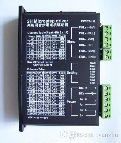 Inventario abundante! Controlador de motor paso a paso de 2 fases CNC M542 Protección completa 1.0-4.2A DC24-50V NEMA 17 23 34 Controlador paso a paso