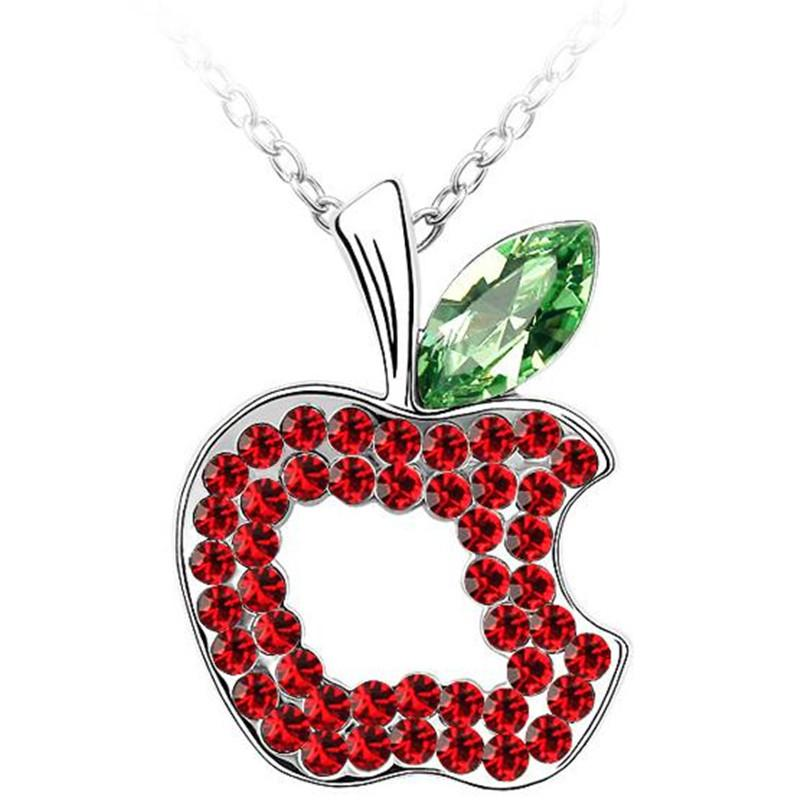 Branded Design 18K White Gold Plated Fashion Jewelry Crystal Necklace Pendant Made with Swarovski Elements 515