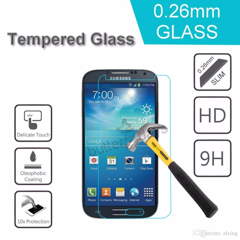100pcs Ultra Thin 9H Premium Tempered Glass Screen Protector For Samsung Galaxy S2/S3/S4/S5/S6/S3 S4 mini/S5mini/S7562/i9082 Duos Explosion