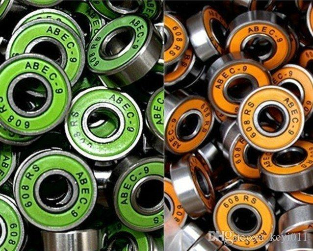 16pcs / set Envío Gratis TwinCam ILQ-9 Patinaje Patinaje Rodamiento Patines Groove de profundidad 608ZZ 8x22x7mm Rodamiento de acero cromado ABEC-9