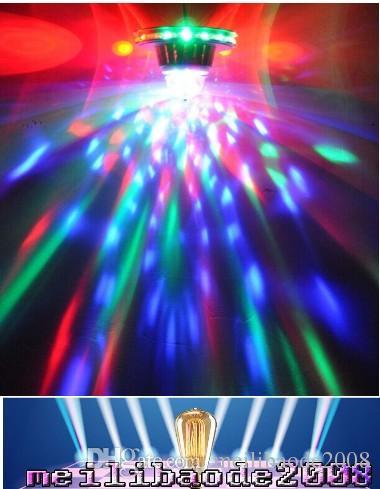 48LEDs 8W Rotating RGB LED 전구 색 변경 크리스탈 매직 해바라기 빛 RGB 무대 조명 Led 효과 크리스마스 파티 MYY