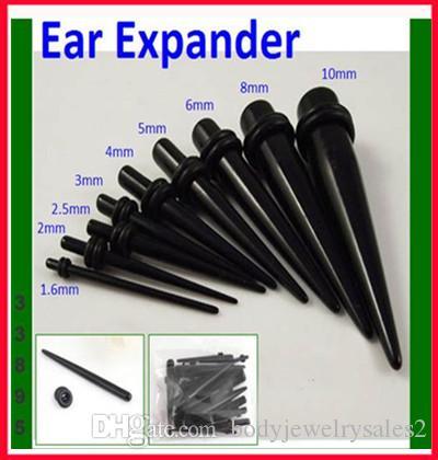 Kulak genişletici P15 1.6-10 MM 50 adet mix 8 boyutu vücut takı akrilik sahte kulak konik kulak fiş piercing