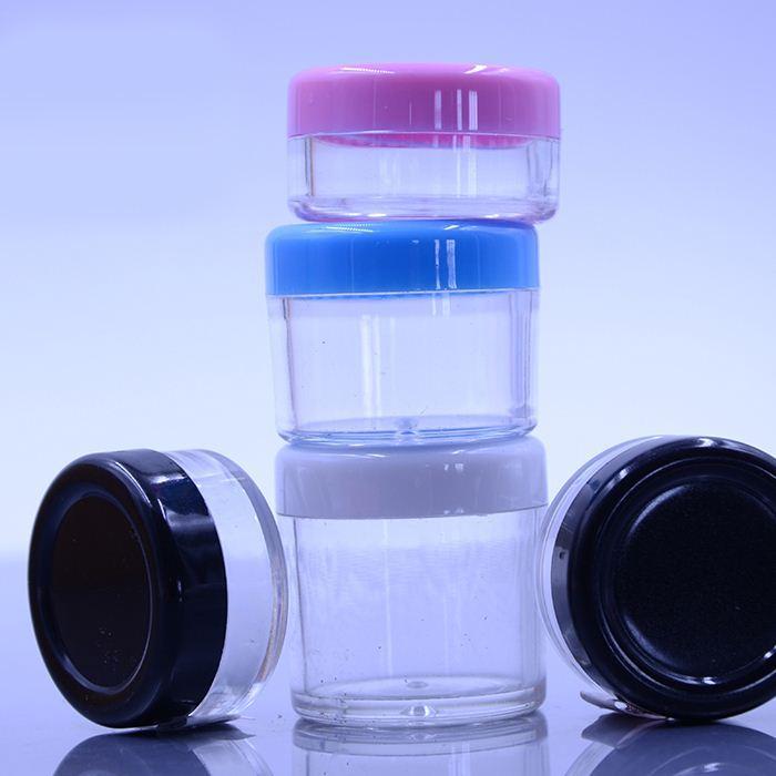 10g barattoli di crema per il viso MINI riutilizzabili Barattoli di plastica rotondi per campioni di colore vuoti Contenitori per trucco da viaggio 100 pz / lotto HN16