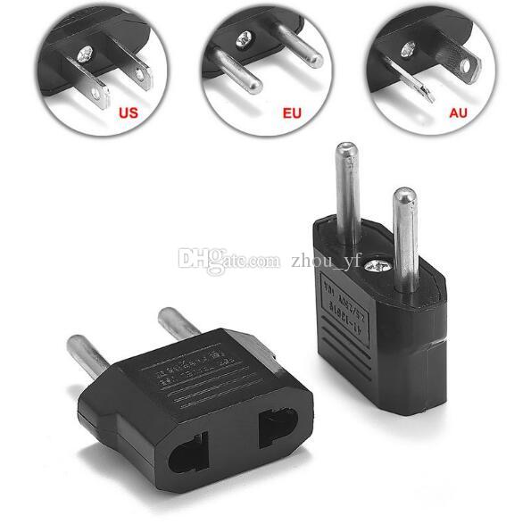 US USA To EU Europe EURO AC Power Wall Plug Travel Charger Adapter Converter ES