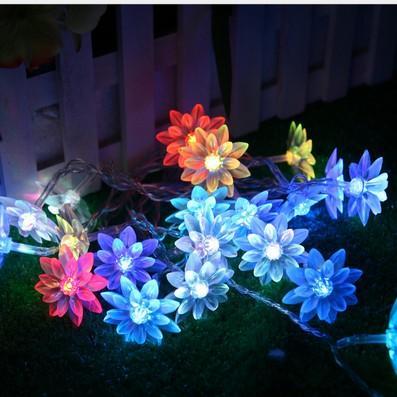 Fairy 5M Lotus Цветы Светодиодные Струнные Гирлянды Легкий Рождественский Новый год Свадьба Отдых вечеринка Главная Люминария Украшение Лампы