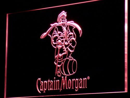 a138 الكابتن مورغان متبل رم بار ضوء النيون تسجيل شحن مجاني دروبشيبينغ بالجملة 7 ألوان للاختيار