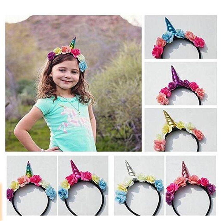 SONG LIN Kids Halloween Unicorn Headband Princess Unicorn Headdress Christmas Party Hairstyle Hair DHL free delivery