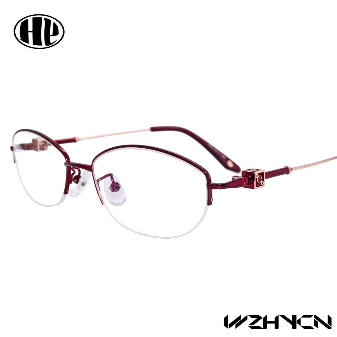2016 Retro de Lujo de Las Mujeres Gafas Marco Lente Claro Oculos Aleación Señora Ojo Gafas Floral Marcos Ópticos Vintage Mujer Gafas