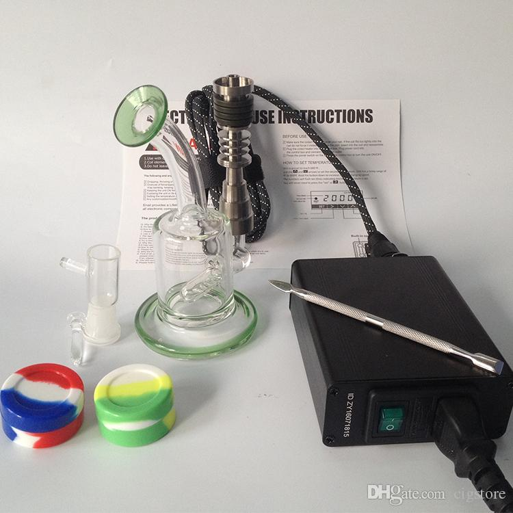 Factory direct sale Cheap Smart Enail Dnail Kit Kavlar Coil PID TC DNail Dab Titanium Nail Domeless Dnail kit D-Nail E-Nail WAX Vaporizer