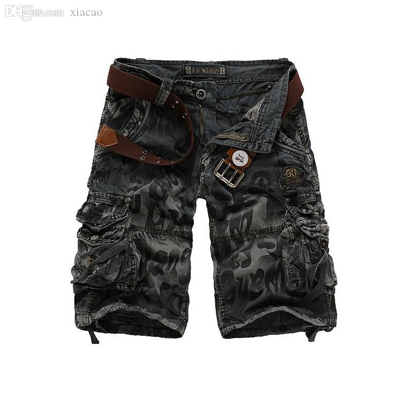 Atacado-VENDA QUENTE Novos Homens Shorts Surf Bermudas Homens Top Camuflagem / Calções de Shorts de Carga Shorts Jeans Lazer Bolso Shorts Masculinos Shorts
