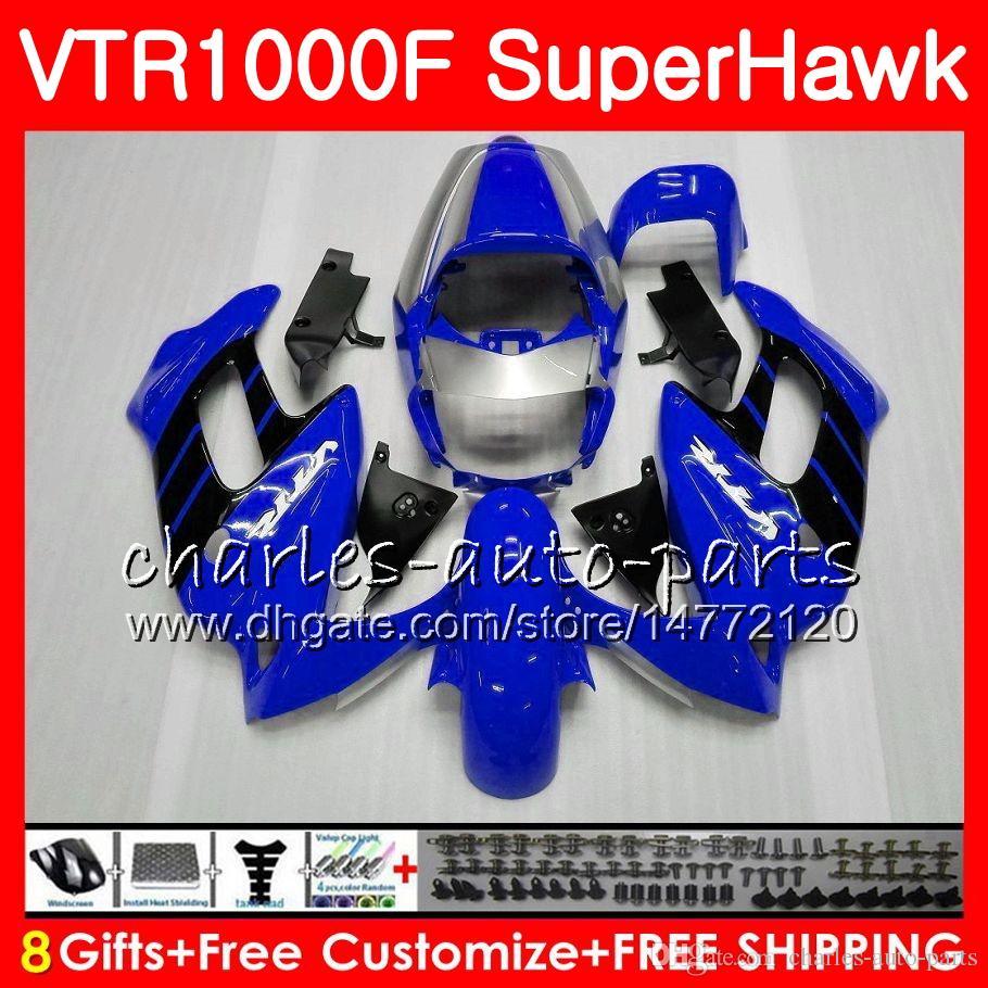 Karosserie Für HONDA VTR1000F SuperHawk 97 98 99 00 01 02 03 04 05 91HM1 VTR 1000F 1997 1998 1999 2000 2002 2003 2004 2005 Verkleidung