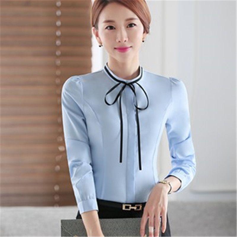 Tamaño Camisa grande del resorte del otoño de las mujeres blanco largo camisas tamaño S-4XL Todo-fósforo buena calidad de la manga larga casual dama de gasa top de la blusa