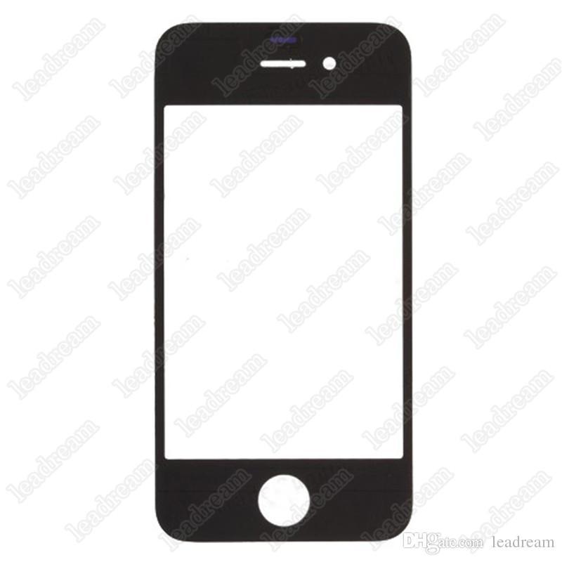 50PCS 디지타이저 전면 외부 터치 스크린 유리 교체 아이폰 4 4s 블랙 화이트 무료 배송