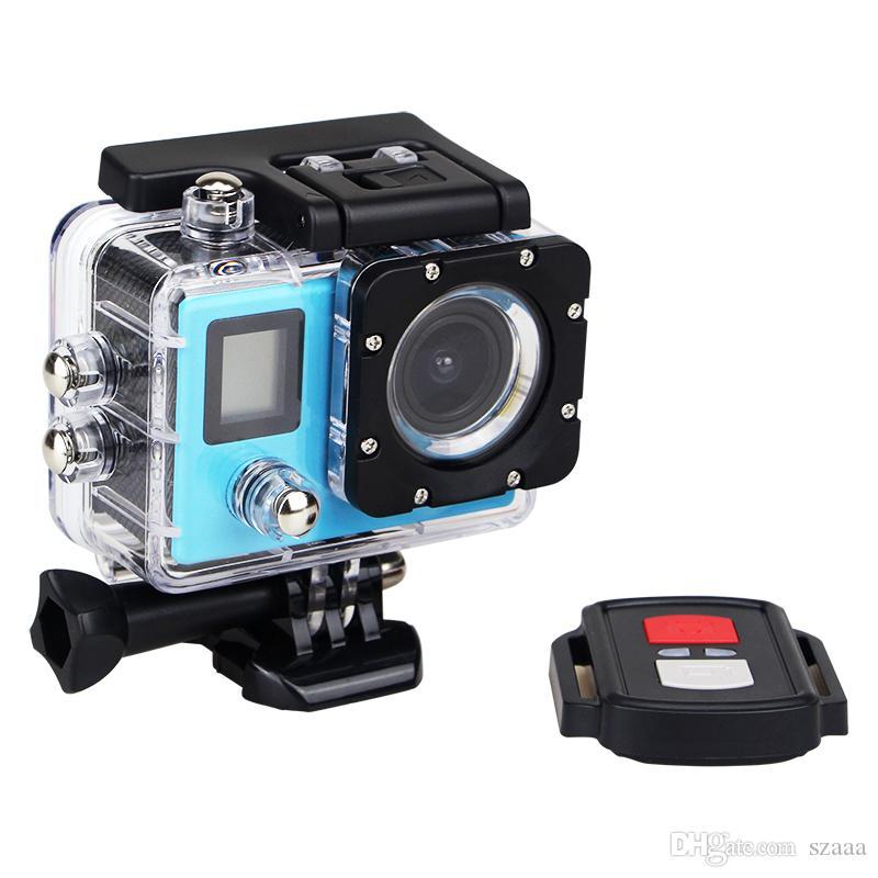 H22R 4K 와이파이 액션 카메라 2.0 인치 170D 렌즈 듀얼 스크린 방수 익스트림 스포츠 HD DVR 캠 + 원격 제어