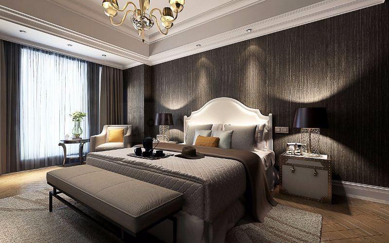 Großhandel Moderne Chinesische Vintage 3D Bodenbelag Tapete Holz Stripes  Club Studie Schlafzimmer Solide Wandbild Wandbild Braun Beige  Wandverkleidung ...