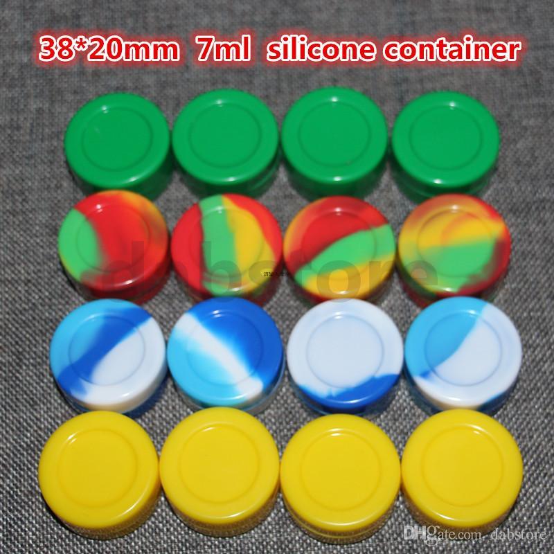 Contenitori di cera di silicone 3ML 5ML 7ML Contenitori di cera di silicone Contenitore di cera Contenitori di silicone da 7ml Contenitore di cera dab per Dry Herb Ecigs