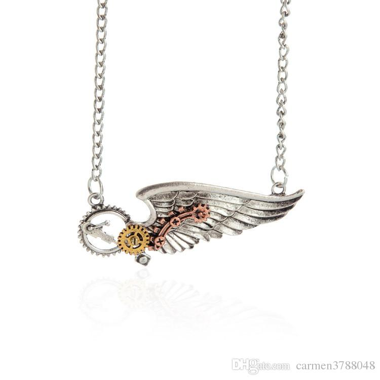 2016 steampunk pendants wing love heart animal vintage necklaces 2016 steampunk pendants wing love heart animal vintage necklaces copper bronze steampunk jewelry bulk price mixed mozeypictures Gallery