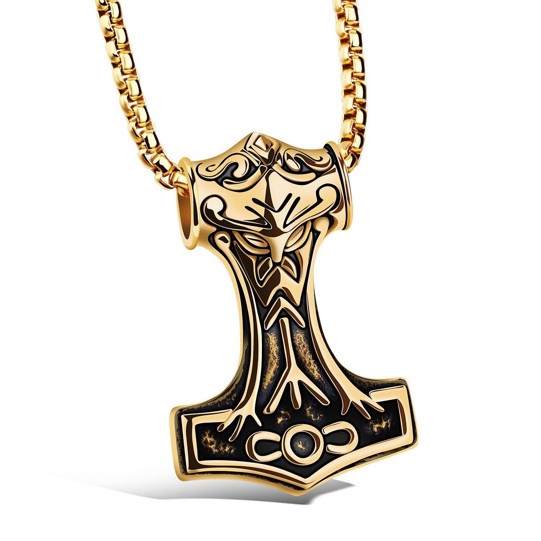 Personnalité de l'Europe et des États-Unis MJOLNIR pendentif collier titane bijoux en gros envoyer des hommes dominateur petit ami N1072