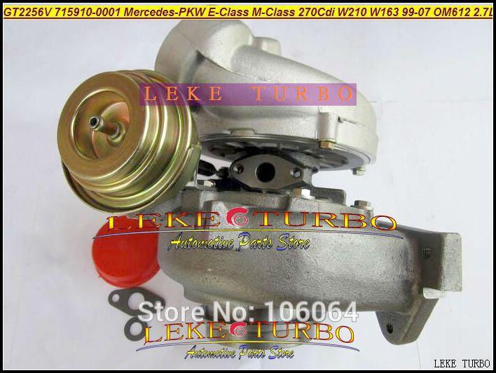 GT2256V 715910-5002S 715910 Turbo Turbocharger For Mercedes-PKW E-Class 270 CDI W210 M-Class W163 1999-07 OM612 2.7L 170HP (2)