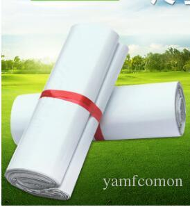 500PCS wholesale 20cm x 32cm Carrier mailing bag 20*32CM plastic express mail posting bag Free DHL White