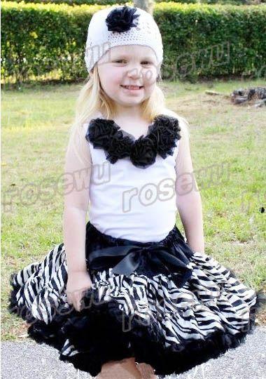 Dark Green Zebra Wild Animal Print Full Pettiskirt Tutu Dress Girl ...