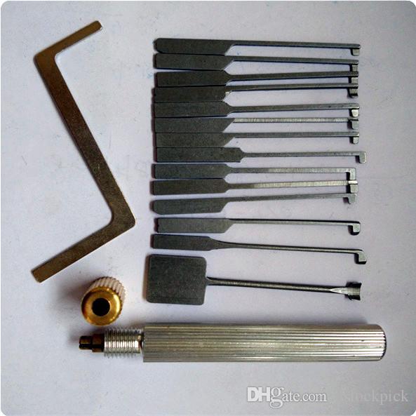 Super GOSO Kaba e Kit de desbloqueio Dimple Lock 14 picaretas diferentes Locksmith ferramenta casa porta Lockpick set
