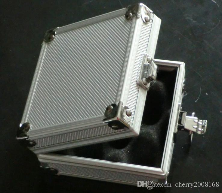 5pcs gros argent machine de tatouage Boîtier en alliage d'aluminium de cas boîte pour pistolet de tatouage kit d'alimentation Machines