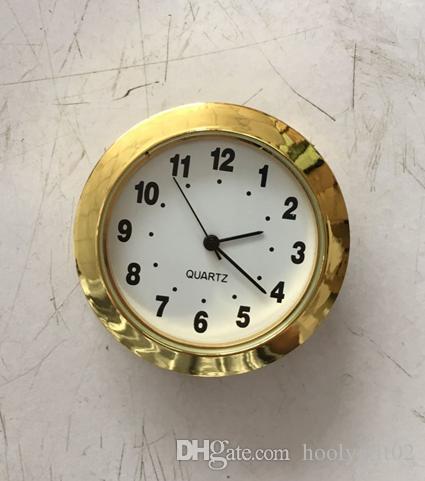 Золото 1 7/16 дюймов пластиковые вставки часы легко читать белый арабский fit Up standand размер арабский fit Up часы pc21s movment