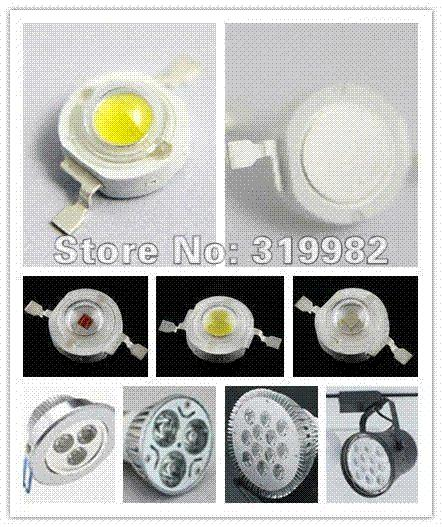 بيع بالجملة 500PCS / الكثير، 1W أدى الأصفر الخرز، أدى ارتفاع الطاقة مصدر الضوء، والمصابيح البرتقالي الأصفر، LED DIY، (أي: GH-1W-Y) FREESHIPPING