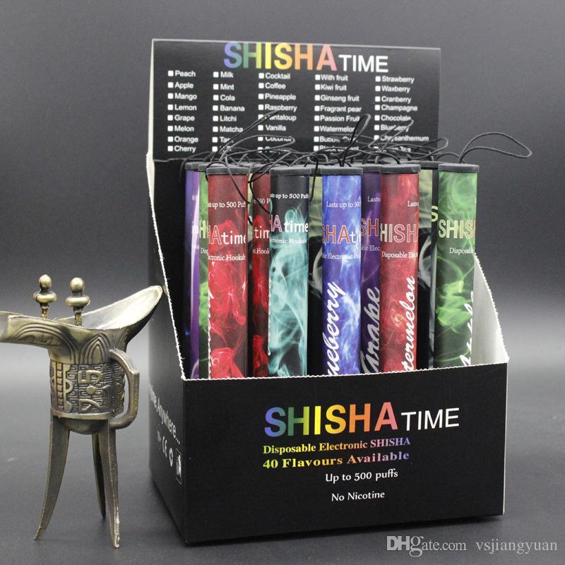 E ShiSha Hookah Pen Disposable Electronic Cigarette Pipe Pen Cigar Fruit Juice E Cig Stick Shisha Time 500 Puffs Colorful DHL Free shipping