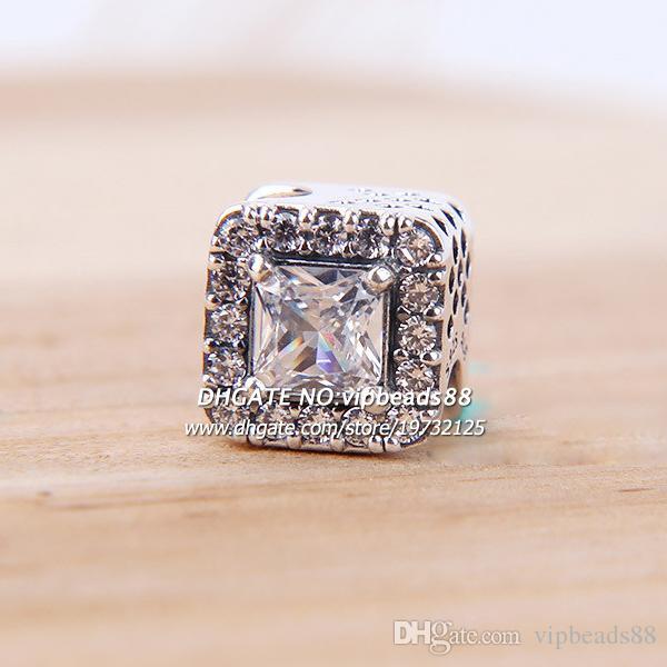 2017 NEUE Modeschmuck Glanz CZ Charms perlen 925 Sterling Silber Perlen Schmuck Machen Für Damenmode DIY Armband