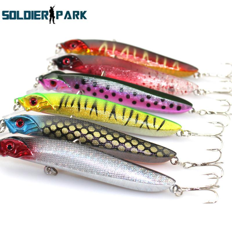Iscas Artificial Minnow Lure Top Water Pesca Bass Bait Hard Laser Body Fishing Tackle 11CM/7.5g Floating Jigging Fishing Bait~ order<$18no t