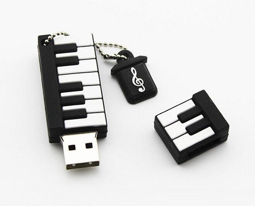 New Cartoon Piano Model USB 2.0 32GB Flash Drive Memory Stick Pendrive Gift U Disk 32GB 64gb 128gb 256gb