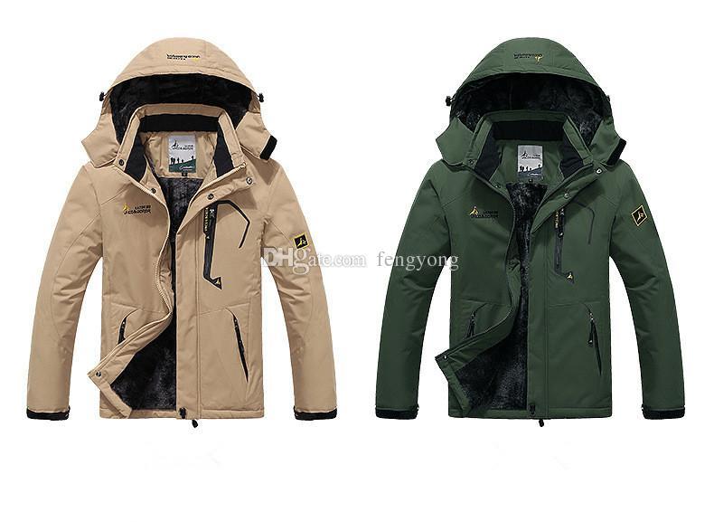Высококачественная уличная мужская куртка для горнолыжного подъема теплой ветрозащитной одежды размера (M-5XL)