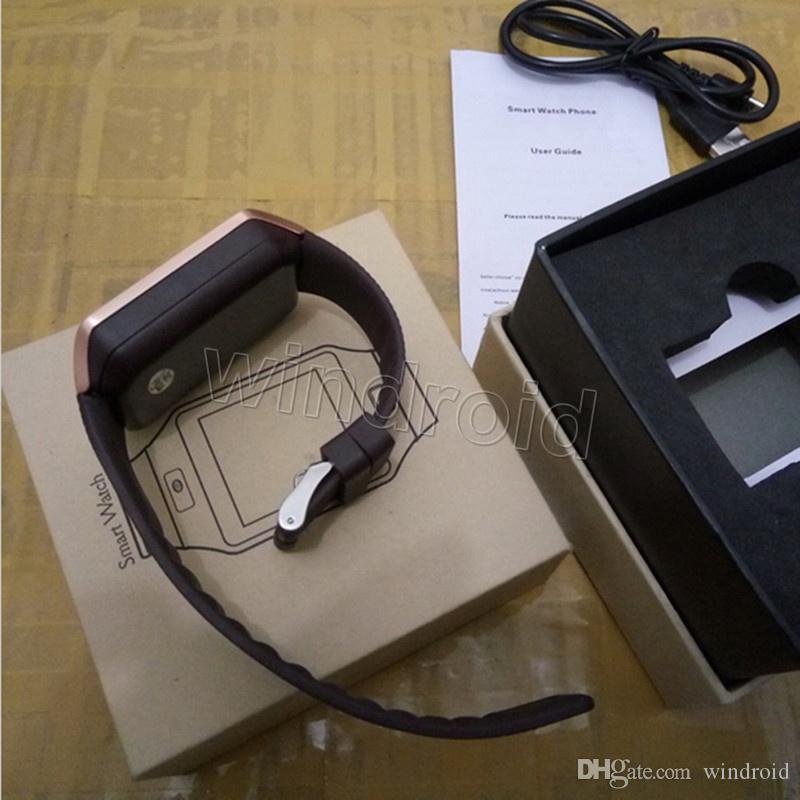Vendita calda Smart Watch Phone GV08 Aggiornamento HD DZ09 Sincronizza Smartphone Smartphone SMS Bracciale Bluetooth Anti-Lost Bluetooth orologio per cellulare intelligente 10pcs