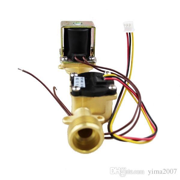 3/4 '' DC 24V Completamente misuratore di portata con valvola a solenoide in ottone con pressione massima dell'acqua 2,0 mpa con prezzo all'ingrosso